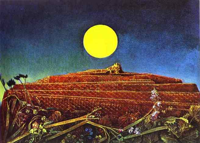 Max Ernst. The Whole City. Oil on canvas. 60 x 81 cm. 1935. Kunshaus, Zurich, Switzerland.