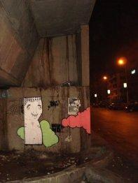 """من أعمال مجموعة """"كاتليست"""" جرافيتى 2010"""