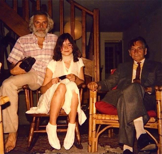 Photo rare - Georges Moustaki- Kiki Uhart et Albert Cossery - Par Pedro Uhart (Archive Pedro Uhart